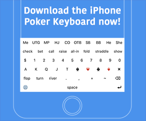 iPhone Poker Keyboard